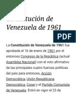 Constitución de Venezuela de 1961 - Wikipedia, La Enciclopedia Libre
