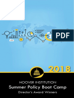 Hoover Institution 2018 Summer Policy Boot Camp Director's Award