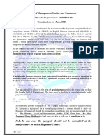 Project Report Guidelines 2019