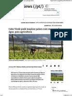 Cabo Verde Pode Inspirar Países Com Escassez de Água Para Agricultura