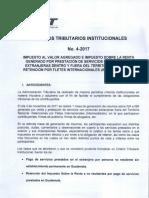 Criterio 4 2017 IVA e ISR Generado Por Prestación de Servicios Con Personas Extranjeras Dentro y Fuera Del Territorio Nacional