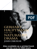 John Osborne - Gerhart Hauptmann and the Naturalist Drama