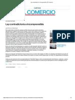 Ley Contradictoria e Incomprensible _ El Comercio