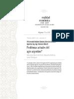 VII Jornada Debate Cátedra Libre de Estudios Agrarios Ing. Agr. Horacio Giberti Problemas actuales del agro argentino