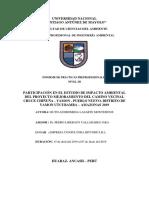 Colaboración en la elaboración de línea base Física y Biológica, Caracterización de Impactos Ambientales, Utcubamba - Amazonas 2019