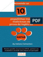 E-book Desvende as 10 Pegadinhas Mais Maliciosas Da Prova de Inglês Da Anpad-compactado