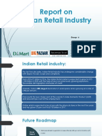 Report on Retail Industy india