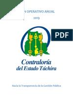 POA 2019 Contraloria Tachira