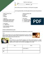 Inglés I Prueba Diagnóstica Inicial