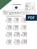 Prueba de Matematicas Sumas y Restas