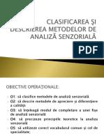 Ppt Metode de Analiza Senzoriala