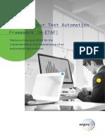 Wipros Endur Test Automation Framework w Etaf