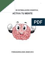 Cuaderno de Estimulación Cognitiva - Fonoaudiología UNAB