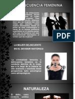 DIAPOSITIVA  DELINCUENCIA FEMENINA