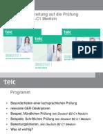 Webinar Optimale Vorbereitung Deutsch B2-C1 Medizin