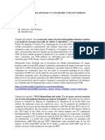 Virus Del Papiloma Humano y Cancer Del Cuello Uterino