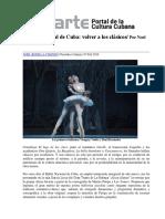 Ballet Nacional de Cuba y el Lago de Los Cisnes