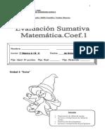 Evaluación Sumativa Matemática Unidad 6...2013