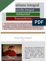 Orientaciones Para Integrar El Humanismo Integral