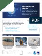 NOAA Global Forecast System Fact Sheet