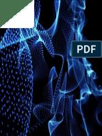 Neon Blue Dots - Desktop Background