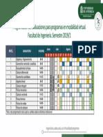 Programación de evaluaciones del tronco común 2019-1 para programas modalidad virtual