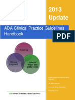 ADA Clinical Practice Guidelines Handbook-2013