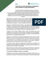 Avanza La Reactivación de Un Ramal Abandonado Del Belgrano Cargas Para Aumentar La Carga Transportada