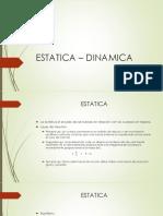 ESTATICA – DINAMICA-1