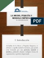 Sesion 11 La Micro y Pequeña Empresa