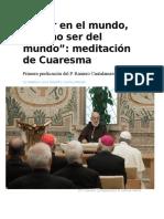 AA Primera Predicación de Cuaresma 2018 23-02-18