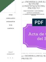 4.1. Desarrollar el Acta de Constitución del Proyecto - Project Management _ Gladys Gbegnedji