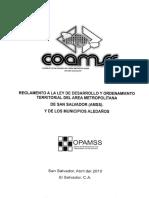Reglamento a La Ley de Desarrollo y Ordenamiento Territorial Del AMSS Completo