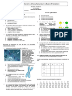9º Prueba Objetiva Biología 3er Periodo