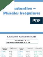sustantivos plurales irregulares ppt