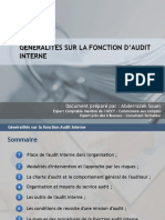 1.1 Generalites Sur La Fonction Audit Interne - Definitions