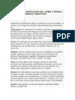 CLASIFICACIÓN DEL ANIME Y MANGA.docx