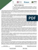 Nota Pública Conjunta - Duodécimo TJSC
