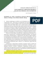DUARTE - Ensaio Bibliográfico - Distanciamento, Reflexividade e Interiorização Da Pessoa No Ocidente