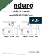 Manual SM650 1 and SM650 2 English