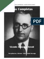 Poesias - en Euskera y en Castellano - Autor Vicente Amezaga Aresti