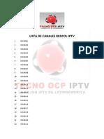 Lista de Canales Redcol Iptv