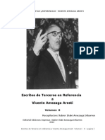 Escritos de Terceros en Referencia a Vicente Amezaga como Autor - Compilador y Editor Xabier Iñaki Amezaga Iribarren