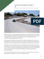 04-06-2019 Nueva carretera ahorrará combustible y tiempo a transporte de carga- Opinion Sonora