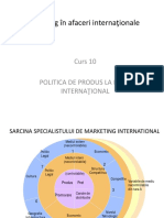 Cursul 10 Politica de Produs La Nivel International