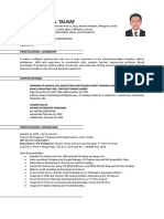 Ronald Talisay CV UPDATED 2019