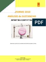 Análisis de sustancias. Informe 2010