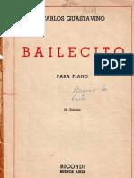 Guastavino Bailecito Para Piano