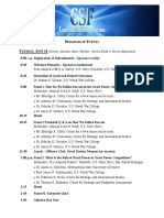 CSF Final Agenda