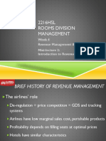 2216HSL Week 4 Intro to Revenue Management Griffith Uni